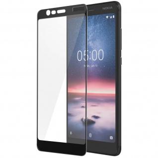Displayschutzfolie aus Glas für Nokia 5.1, bruchsicher & kratzfest - Schwarz