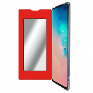 Spiegel Hülle, dünne Klapphülle für Samsung Galaxy S10 - Rot