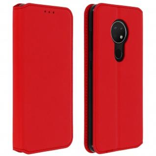 Kunstleder Cover Classic Edition Nokia 7.2 , Nokia 6.2 - Rot