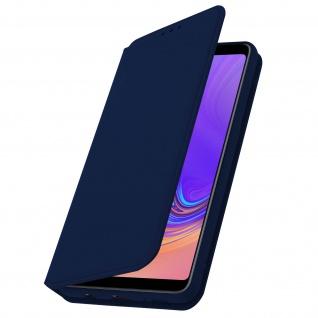 Flip Kunstleder Cover Geldbörse Classic Edition Samsung Galaxy A9 2018 - Blau