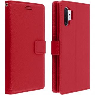 Samsung Galaxy Note 10 Plus Flip-Cover mit Kartenfächern & Standfunktion â€? Rot