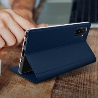 Flip Cover, Klappetui mit Kartenfach & Standfunktion Galaxy Note 10 Dunkelblau - Vorschau 5