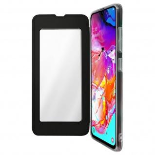 Spiegel Hülle, dünne Klapphülle für Samsung Galaxy A70 - Schwarz
