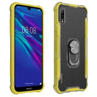 Hybrid Handyhülle mit Ring Halterung für Huawei Y6 2019 - Gelb