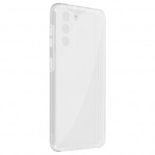 Schutzhülle für Samsung Galaxy S21, Vorder- + Rückseite ? Transparent