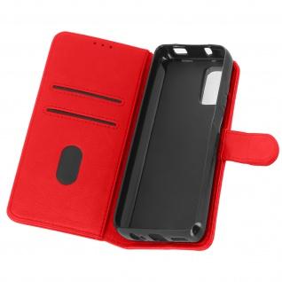 Flip Cover Geldbörse, Etui Kunstleder für Xiaomi Redmi Note 10 ? Rot