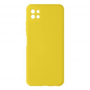Halbsteife Silikon Handyhülle für Samsung Galaxy A22 5G, Soft Touch ? Gelb