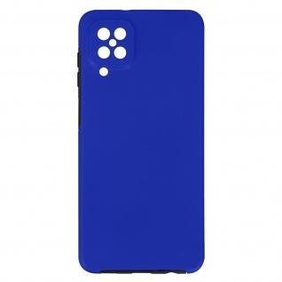 Schutzhülle für Samsung Galaxy A12, Vorder- + Rückseite ? Dunkelblau