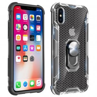 Hybrid Handyhülle mit Ring Halterung für Apple iPhone X, iPhone XS - Grau