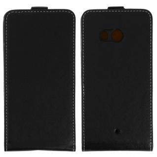 HTC U11 Flip-Schutzhülle mit unverbrüchlicher Hartschale - Schwarz - Vorschau 5