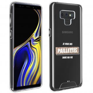 """Handyhülle für Samsung Galaxy Note 9, Made in France ? """" Paillettes"""" Design"""