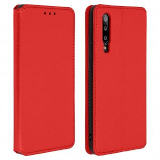 Flip Kunstleder Cover Geldbörse Classic Edition Huawei P30 - Rot