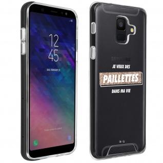 """Handyhülle für Samsung Galaxy A6, Made in France ? """" Paillettes"""" Design"""