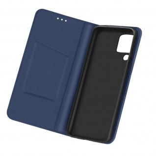 Samsung Galaxy A12 Business Etui aus Kunstleder mit Standfunktion � Dunkelblau