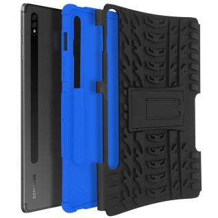 Stoßfeste Schutzhülle Galaxy Tab S7 11.0, Hard Case mit Standfunktion ? Blau