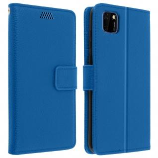 Huawei Y5p Flip-Cover mit Kartenfächern & Standfunktion - Blau