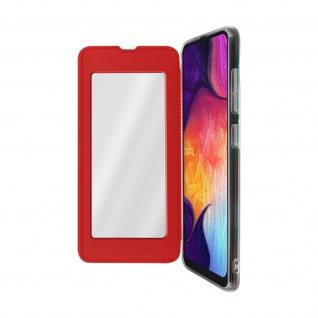 Spiegel Hülle, dünne Klapphülle für Samsung Galaxy A50 - Rot