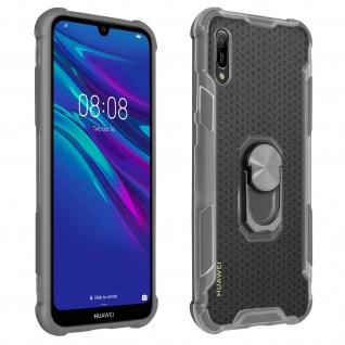 Hybrid Handyhülle mit Ring Halterung für Huawei Y6 2019 - Grau
