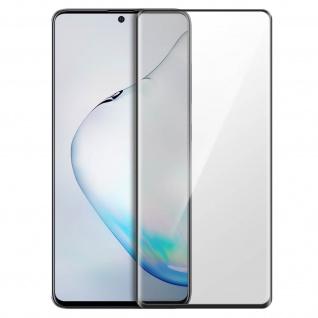 Premium Panzerglas Schutzfolie für Samsung Galaxy Note 10 Lite - Rand Schwarz