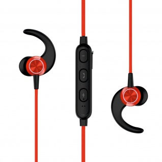 Active Series Wireless Bluetooth-Sportheadset, magnetisch, by Swissten - Rot