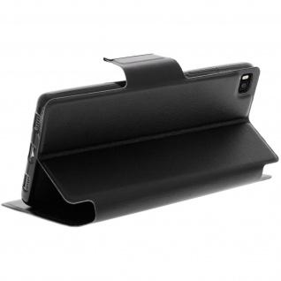 Flip-Schutzhülle mit Sichtfenster für Huawei P8 - Schwarz - Vorschau 5