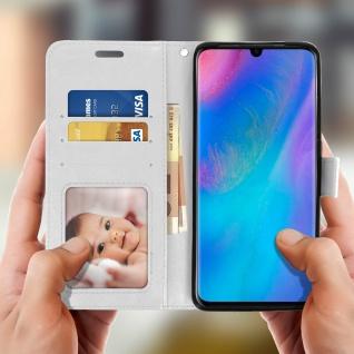 Flip Stand Cover Brieftasche & Standfunktion für Huawei P30 Pro - Weiß - Vorschau 3