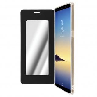 Spiegel Hülle, dünne Klapphülle für Samsung Galaxy Note 8 - Schwarz
