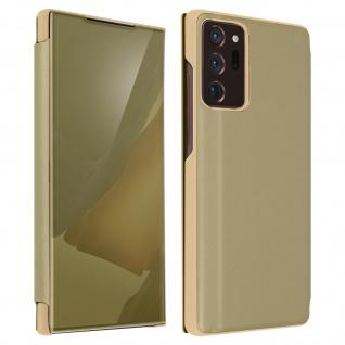 Samsung Galaxy Note 20 Ultra View Cover mit Spiegeleffekt & Standfunktion ? Gold