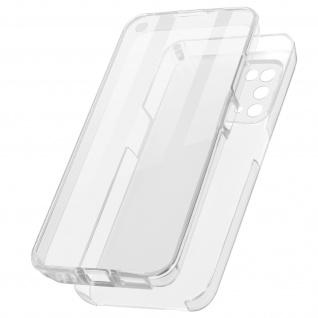 Schutzhülle für Oppo A74 5G / A54 5G, Vorder- + Rückseite ? Transparent