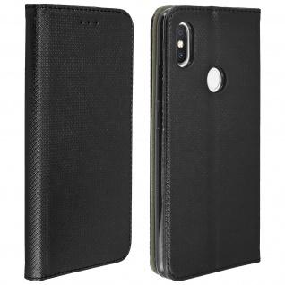 Xiaomi Redmi S2 Flip Cover mit Kartenschlitz & Standfunktion - Schwarz