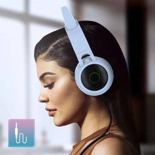 Katzenohren kabellose Bluetooth Kopfhörer, Kitty Headset ? Hellblau - Vorschau 5