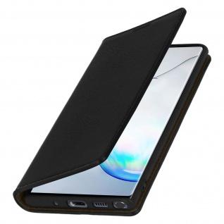 Business Leder Cover, Schutzhülle mit Geldbörse Galaxy Note 10 - Schwarz - Vorschau 2