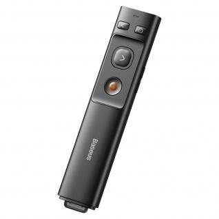 Präsentationsfernbedienung Laserpointer(100m), USB-C Anschluss, Baseus - Schwarz - Vorschau 2