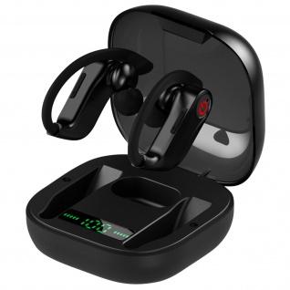 Bluetooth-Sport Kopfhörer mit Ladebox 60 Stunden Akkulaufzeit, Lemonda - Schwarz