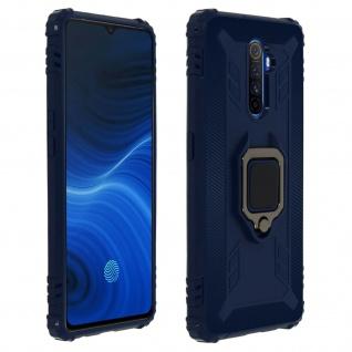 Stoßfeste Handyhülle Realme X2 Pro mit Ring-Halterung ? Dunkelblau