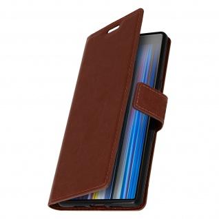 Flip Stand Cover Brieftasche & Standfunktion für Sony Xperia 10 - Braun - Vorschau 2