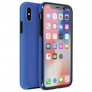Schutzhülle für Apple iPhone X, Vorder- + Rückseite ? Dunkelblau