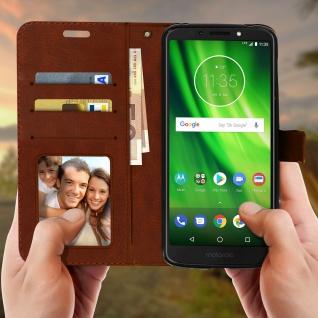 Flip Stand Cover Brieftasche & Standfunktion Motorola Moto G6 Play/E5 - Braun - Vorschau 2