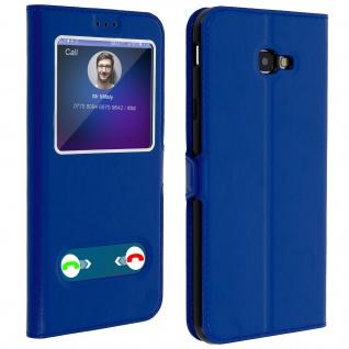 Samsung Galaxy J4 Plus Flip Cover Doppelfenster & Standfunktion - Blau