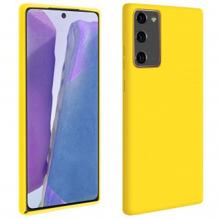 Halbsteife Silikon Handyhülle Samsung Galaxy Note 20, Soft Touch - Gelb