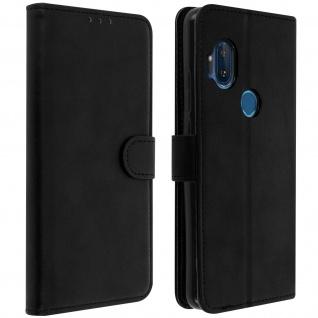 Soft Touch Flip-Cover Geldbörse mit Standfunktion Motorola One Hyper - Schwarz