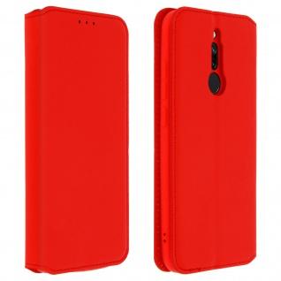 Kunstleder Cover Classic Edition Xiaomi Redmi 8, Redmi 8A - Rot