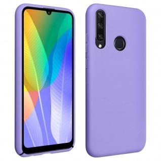 Halbsteife Silikon Handyhülle Huawei Y6p, Soft Touch - Violett