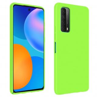 Halbsteife Silikon Handyhülle für Huawei P Smart 2021, Soft Touch - Grün