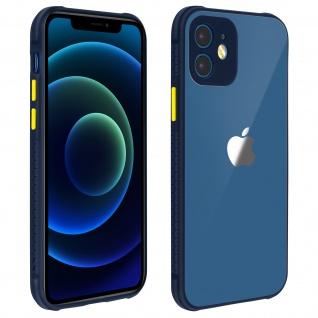 Apple iPhone 12 / 12 Pro Hülle aus Polycarbonat, Bumper aus Silikon - Dunkelblau