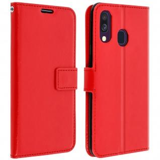 Flip Stand Cover Brieftasche & Standfunktion für Samsung Galaxy A40 - Rot