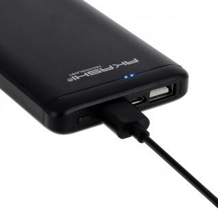 Akashi Tragbarer Akkupack für Smartphones und Tablets - 10000 mAh - Schwarz