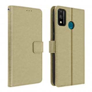 Flip Stand Case Brieftasche & Standfunktion für Honor 9X Lite - Gold