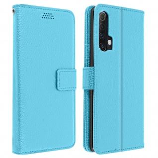 Realme X3 Superzoom / X50 / 6 Pro Cover mit Kartenfächern & Ständer ? Blau