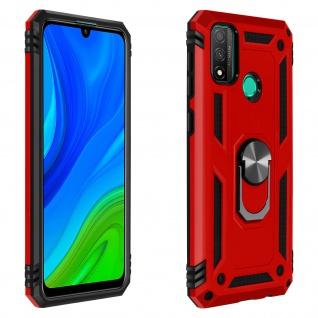 Hybrid Handyhülle mit Ring Halterung für Huawei P Smart 2020 - Rot